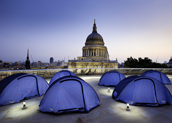 Rooftop camping sleepover at One New Change on 6th August
