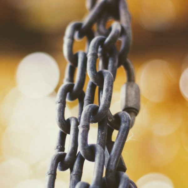 Blockchain logistics Eonic building links